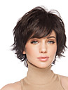 Fluffy Short Wavy Hand Tied Top Human Virgin Remy Capless Woman\'s Hair Wig