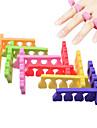10 pcs points ongles des doigts de coton des doigts et plus de couleur de livraison aleatoires