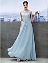 Linia -A Lungime Podea Șifon Dantelă Bal Seară Formală Rochie cu Dantelă de TS Couture®