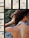 10 Tatouages Autocollants Series bijoux Series de fleur Series de totem AutresNon Toxique Motif Grande Taille Hawaien Bas du Dos