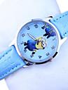 Infantil Relogio de Moda Quartz PU Banda Relogio de Pulso / Desenhos Animados Azul