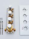 paroi d\'ecoulement de sortie a grande eau chrome monte robinet salle de douche, 3 fonctions de l\'eau fonctionne ensemble ou separement