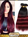 1b / 99j ombre brasilianska jungfru hår två ton rakt människohår väva