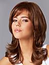 bouffant ondulee capless cheveux remy vierge de longueur moyenne mono top perruques de cheveux