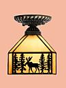 Contemporain / Traditionnel/Classique / Rustique / Lanterne / Vintage / Retro LED Verre Montage du fluxSalle de sejour / Chambre a