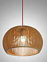 Design Style Circular Feature L 220V  E27 Pendant Light 1 Light Wooden