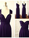 Floor-length Spandex Bridesmaid Dress A-line Straps with Crystal Detailing