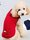 Cat / Dog Coat / Sweater / Clothes/Clothing Red / Blue Winter Classic Wedding / Cosplay / Christmas / Holiday / New Year\'s