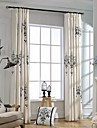 Deux Panneaux Le traitement de fenetre Rustique Moderne Neoclassique Chambre a coucher Melange Lin/Coton Materiel Rideaux Tentures