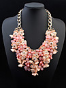 European Style Fashion Exaggerated Flower Droplets Necklace