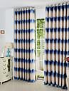Deux Panneaux Le traitement de fenetre Mediterraneen , Courbe Polyester Materiel Rideaux Tentures Decoration d\'interieur For Fenetre