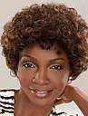 mode afrikansk kort hår lockigt brunt färg syntetiska peruker