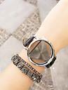 Pentru femei Bărbați Unisex Ceas La Modă Ceas Brățară Quartz Cronograf PU Bandă Negru Alb