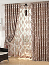 Two Panels Europe Contracted Style Of High-Grade Chenille Jacquard Velvet Fabric Sitting Room Bedroom Curtains
