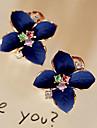 Cercei Stud Cercei Picătură La modă Perle Cristal Placat Auriu imitație de diamant Flower Shape Alb Curcubeu Bijuterii PentruPetrecere