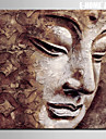 E-HOME® Stretched Canvas Art Buddha Head Decoration Painting  One Pcs