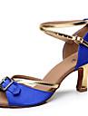 Chaussures de danse ( Bleu ) - Personnalisable - Talons personnalises - Satin - Danse latine / Salsa / Samba