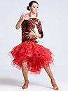 Imported Nylon Viscose with Animal Print Latin Dance Dresses for Women\'s Performance(More Colors)