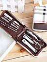 1set verktyg nagelklippare kit 9st rostfritt stål nagelvård verktygssatser