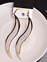 Cercei Picătură Aliaj Leaf Shape Argintiu Auriu Bijuterii Pentru Nuntă Petrecere Zilnic Casual 2pcs