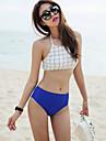 Bikini Da donna Incrociato Imbottito All\americana Elastene