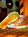 Garcon-Decontracte-Noir Jaune Blanc Or-Talon Plat-Nouveaute Light Up Chaussures-Baskets-Cuir