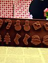 Crăciun copac om de zăpadă santa cadou șosete bomboane bar silicon tort ciocolată mucegai culoare aleatoare