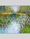 Peint a la main Paysage / Fantaisie / Paysages AbstraitsStyle Un Panneau Toile Peinture a l\'huile Hang-peint For Decoration d\'interieur