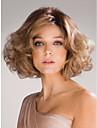 perruques courtes laterales de cosplay boucles blonds dame de la mode