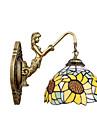 E27 220V 27*25CM 3-5㎡ Christmas Tiffany European Contracted Rural Creative Wrought Iron Wall Lamp Led Lights