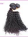Tissages de cheveux humains Cheveux Eurasiens Tres Frise 6 Mois 3 Pieces tissages de cheveux