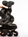 3pcs / lot 8inch att 30inch brasilianska förkroppsligar vinkar jungfru människohår obearbetad rå vågigt jungfru hårförlängning