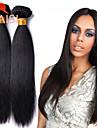 """3 buntar 8 """"-28"""" obearbetat peruanska jungfru hår naturligt svart rakt människohår väva"""