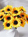Gren Polyester Solrosor Bordsblomma Konstgjorda blommor 11.8*3.54*0.11