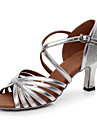Aanpasbaar - Voor dames - Dance Schoenen ( Zilver ) - met Aangepaste  hak - en Latijn / Salsa / Samba