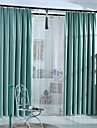 (Two Panels)Modern Solid Color Polyester Blackout Curtain(Sheer Not Included)