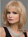 couleur blond perruques synthetiques perruques Longueur moyenne