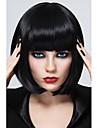 synthetique perruque de cheveux de haute qualite synthetique noir fibre Bob femmes de style