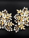 Femei Perle Cristal Aliaj Diadema-Nuntă Ocazie specială Clipuri de Păr 2 Piese
