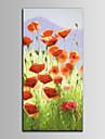HANDMÅLAD Blommig/BotaniskMedelhavet En panel Kanvas Hang målad oljemålning For Hem-dekoration