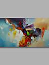 HANDMÅLAD Abstrakt Horisontell,Moderna En panel Hang målad oljemålning For Hem-dekoration
