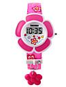 Copii Ceas La Modă Ceas Brățară Piloane de Menținut Carnea LED PU Bandă Pink Violet Mov Roz