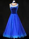 Vestidos(Azul,Espandex / Poliester,Danza Moderna / Baile de Salon) -Danza Moderna / Baile de Salon- paraMujer Cristales/Rhinestones