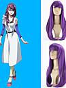 tecknad samma stil peruk förlängningar lila syntheic våg peruk