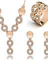 Set bijuterii Cristal Ștras Pietrele Lunilor La modă Auriu Cercei Rotunzi  Seturi de bijuterii Petrecere Ocazie specială Zi de Naștere