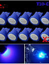 hög effekt 10 x blå cob T10 194 168 ledde 12v instrument streck glödlampor