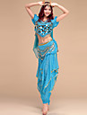 Belly Dance Outfits Women\'s Performance Chinlon / Spandex Draped 4 Pieces 6 Colors