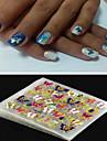 Punk - Finger - 3D Nagelstickers / Nagelsmycken - av PVC - 4pcs - styck 62mm*52mm - cm