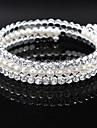 Brățări Pentru femei Componentă / Brățări rotunde Argintiu / Imitație de Perle Imitație de Perle