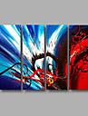 Dipinta a mano AstrattoModern Quattro Pannelli Tela Hang-Dipinto ad olio For Decorazioni per la casa